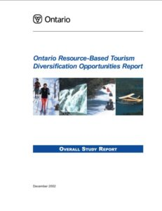 Ontario Resource Based Tourism Diversification Opportunities Report