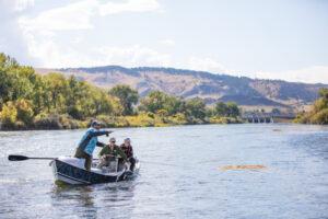 Cottonwood Camp fishing boat